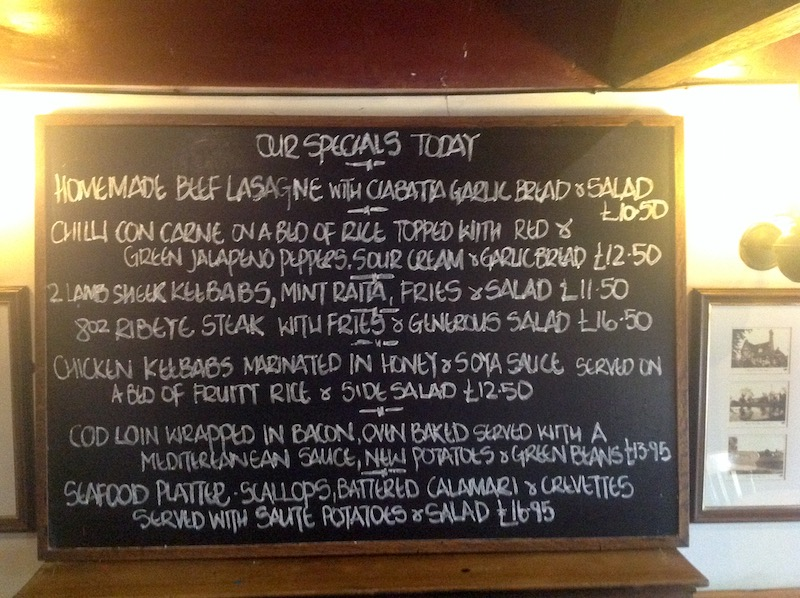 Our Specials Today