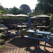 Lovely Garden at The Bricklayers Arms